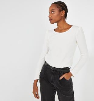 T-shirt à épaulettes femme