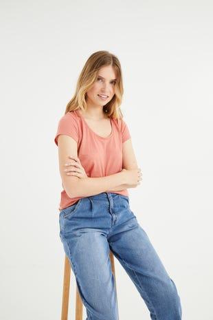 T-shirt en jersey femme