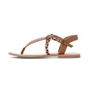 Sandales entre-doigts en cuir