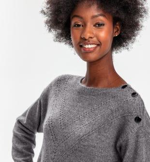 Robe-pull courte femme