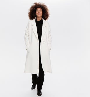 Long manteau en laine femme