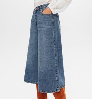 Jupe-culotte en jean Femme