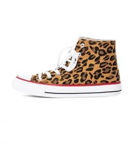 Baskets montantes léopard