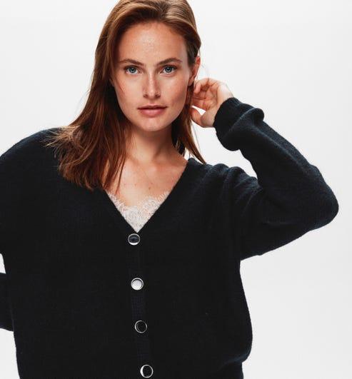 Pull moelleux Femme Rouge Promod noir vêtements femme