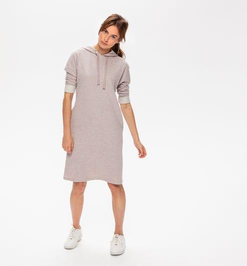 Robe Sweat Shirt A Capuche Ecru Robes Promod