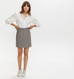 Mini-jupe en jersey milano