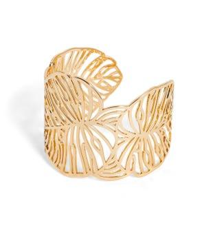 Bracelet-manchette doré