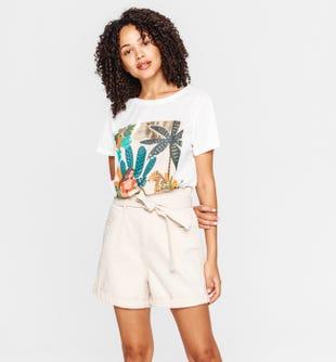 T-shirt à motif femme