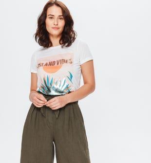 T-shirt à message femme