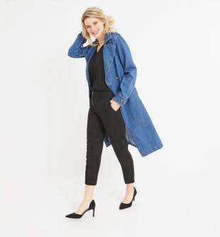 Pantalon en lyocell femme