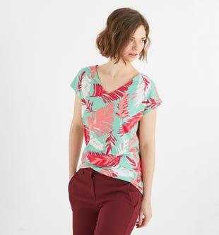 T-shirt décolleté dos femme