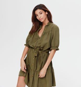 Robe-chemise en lyocell