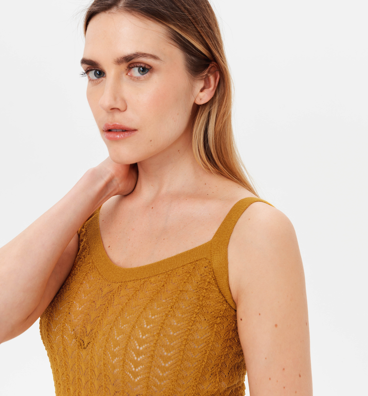 Débardeur en tricot ajouré