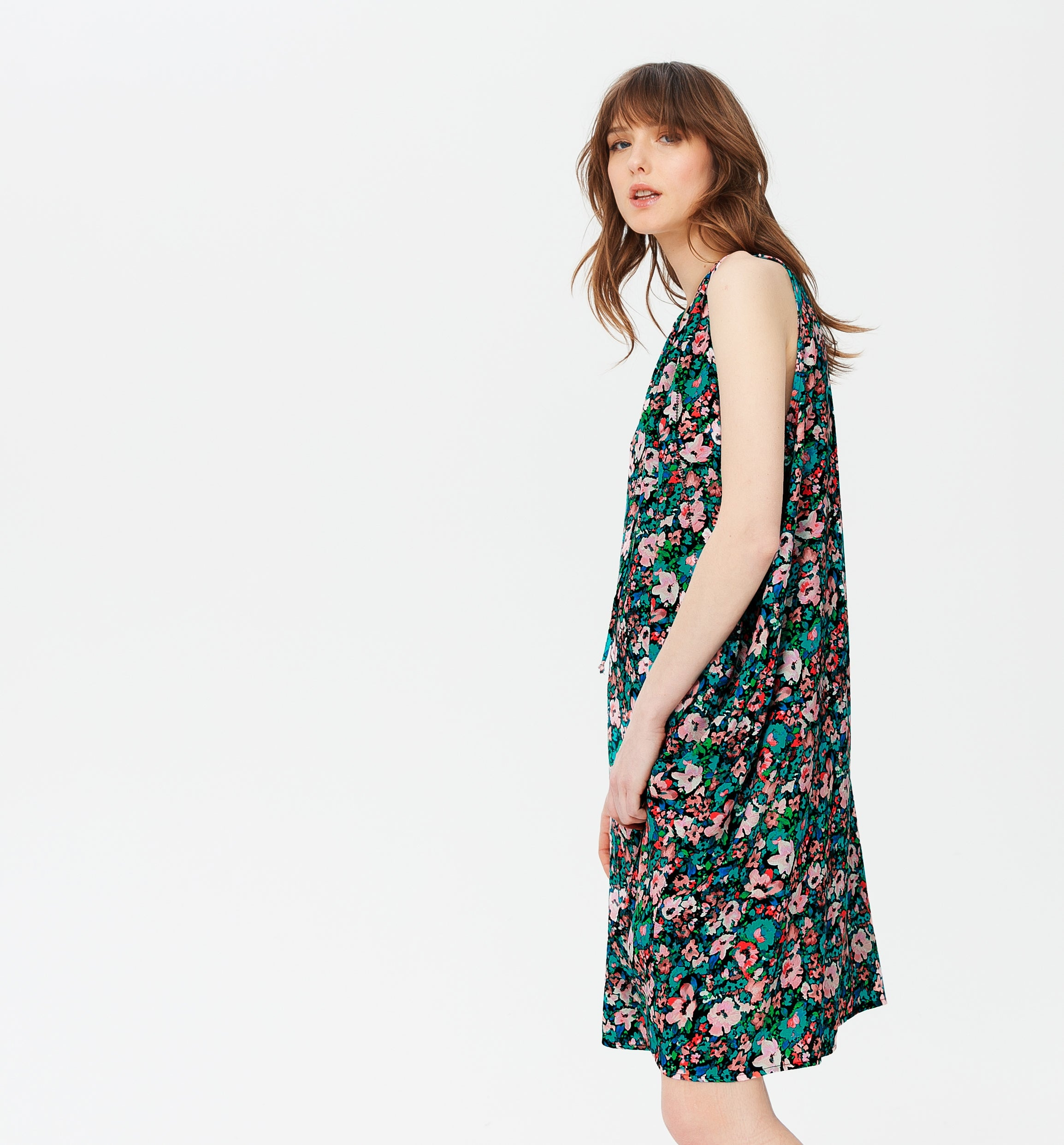 Robe viscose sans manche Femme