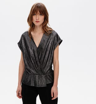 T-shirt effet shiny femme