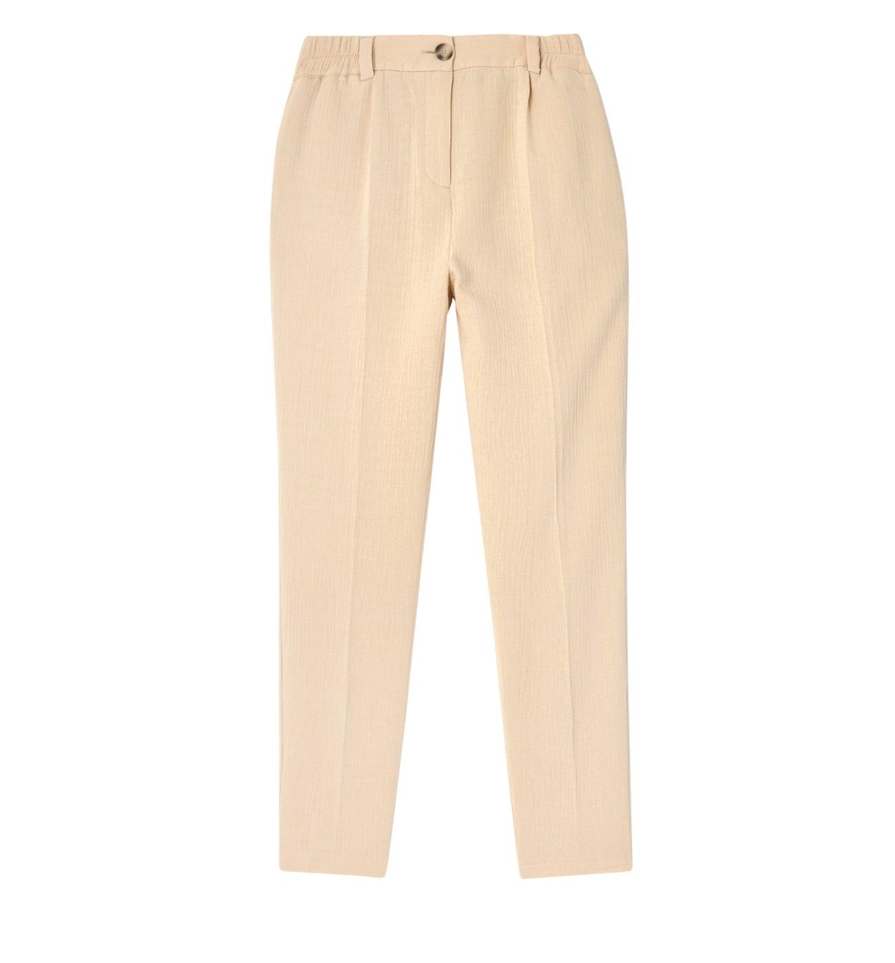 Pantalon gaufré Femme