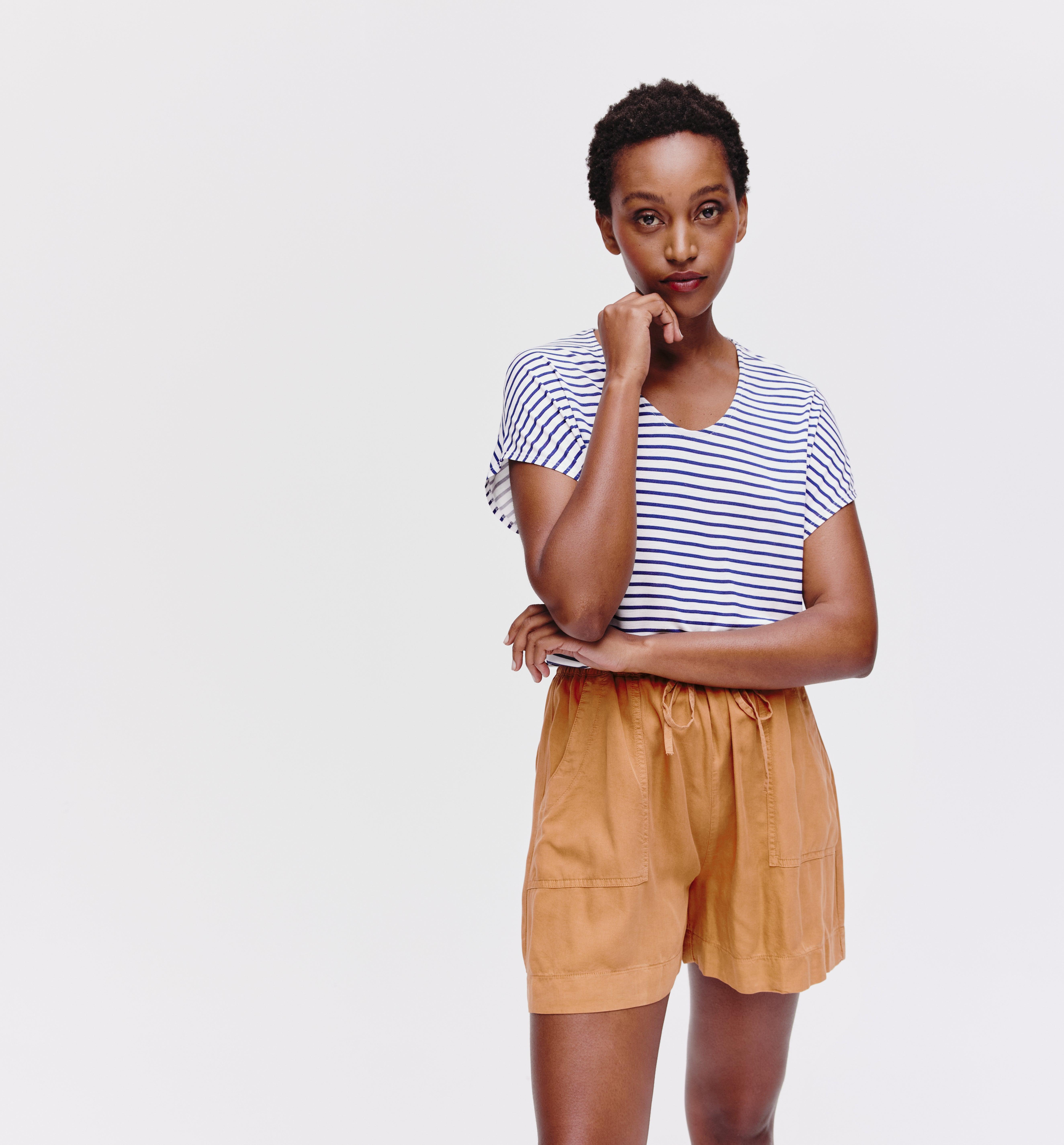 Short large en lyocell Femme