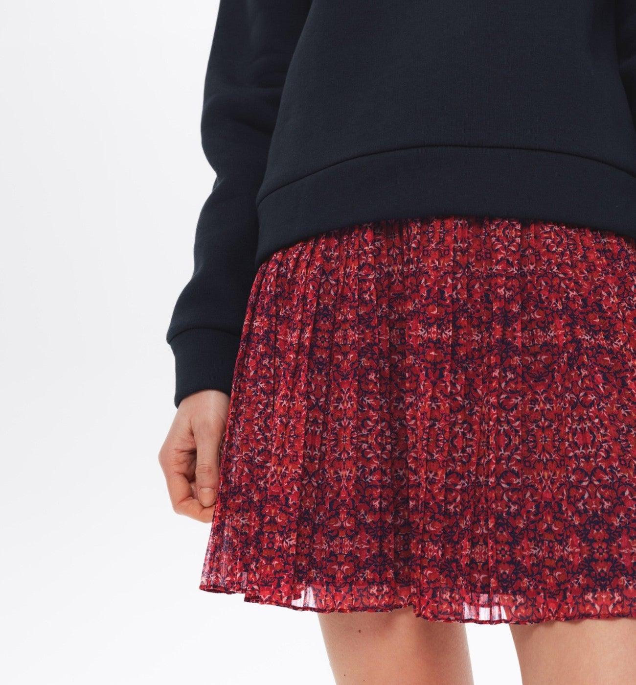 Jupe courte plissée Femme