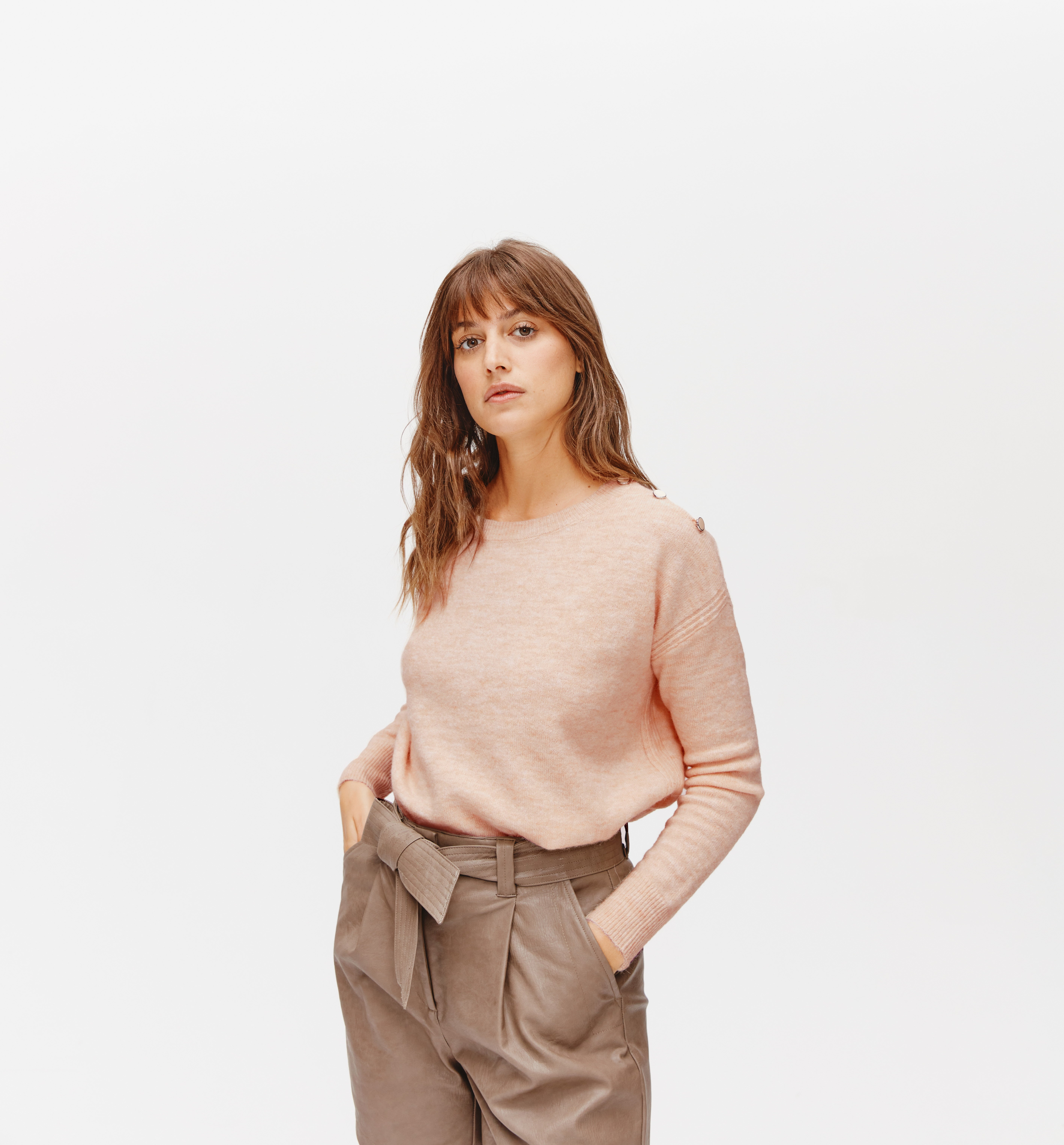 Pull oversize col rond Femme