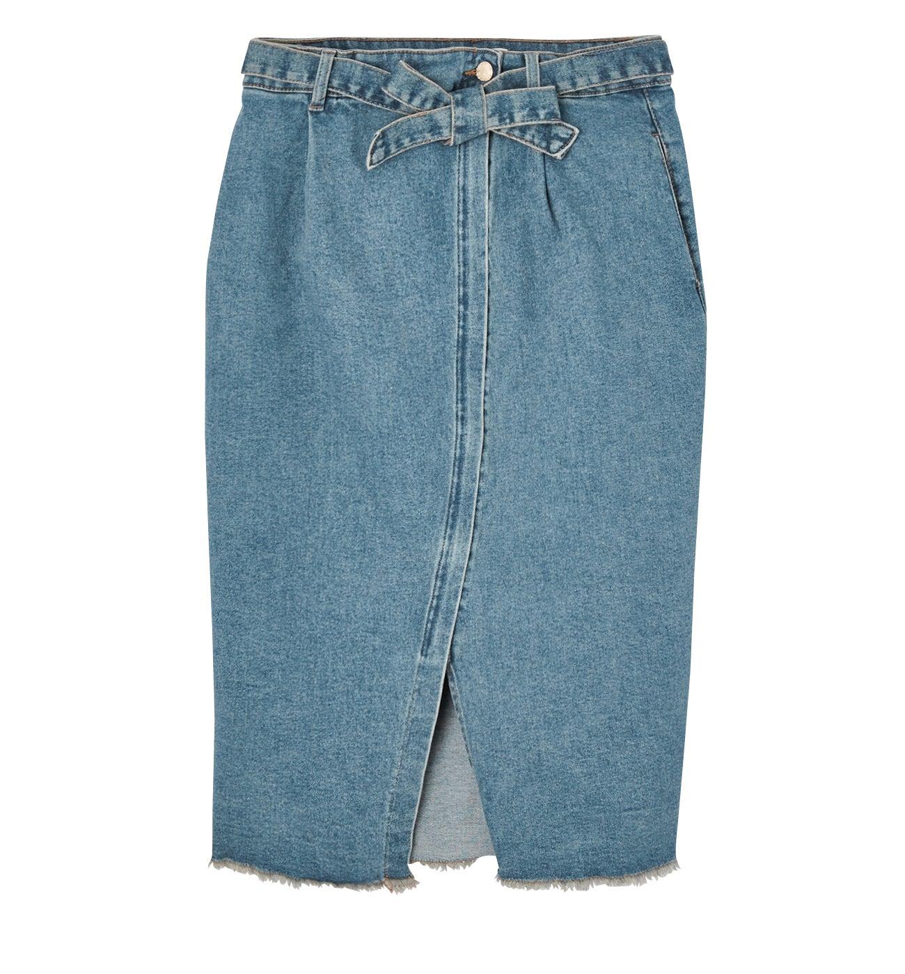 Jupe crayon en jean Femme