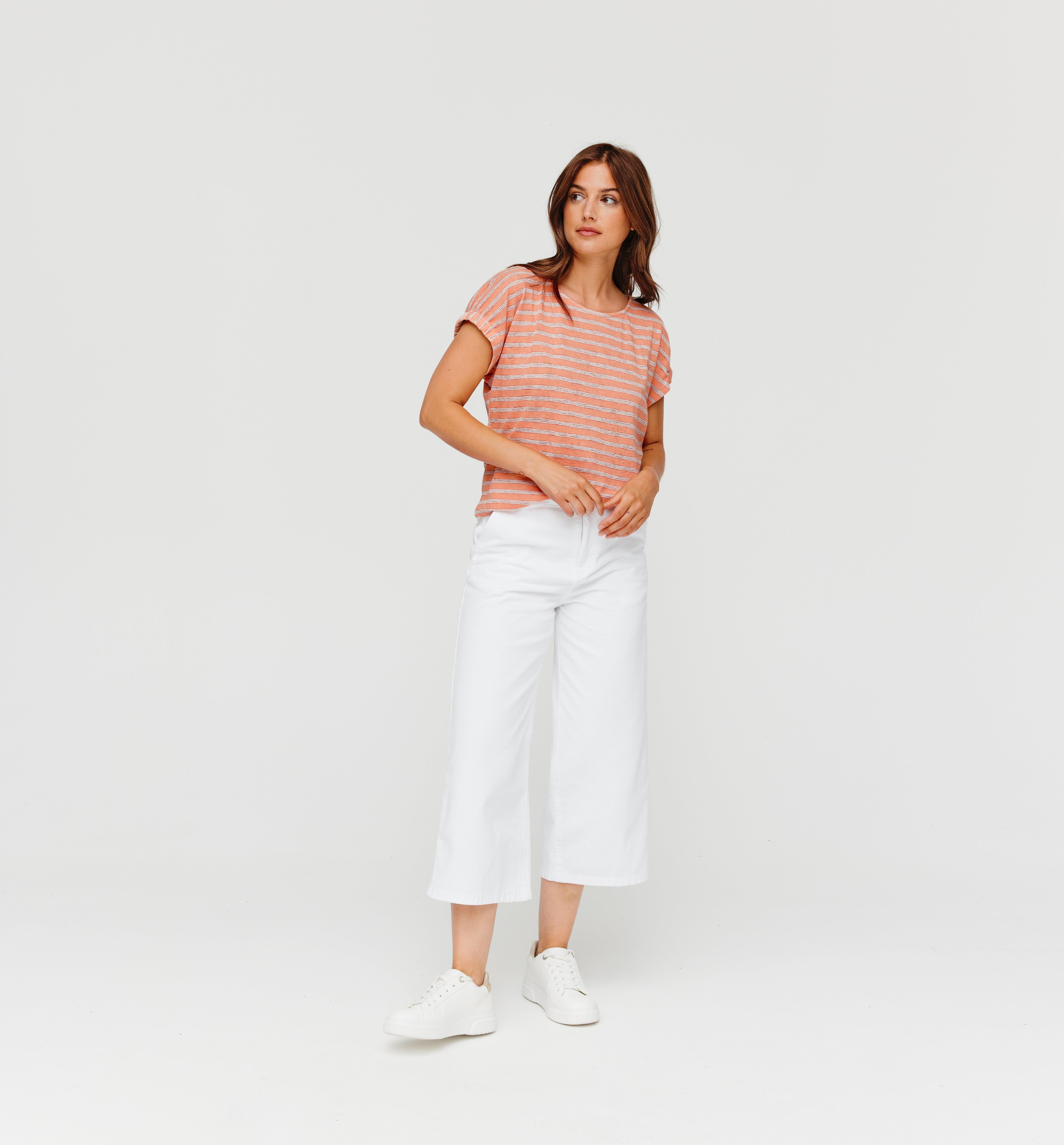 T-shirt rayé irisé Femme