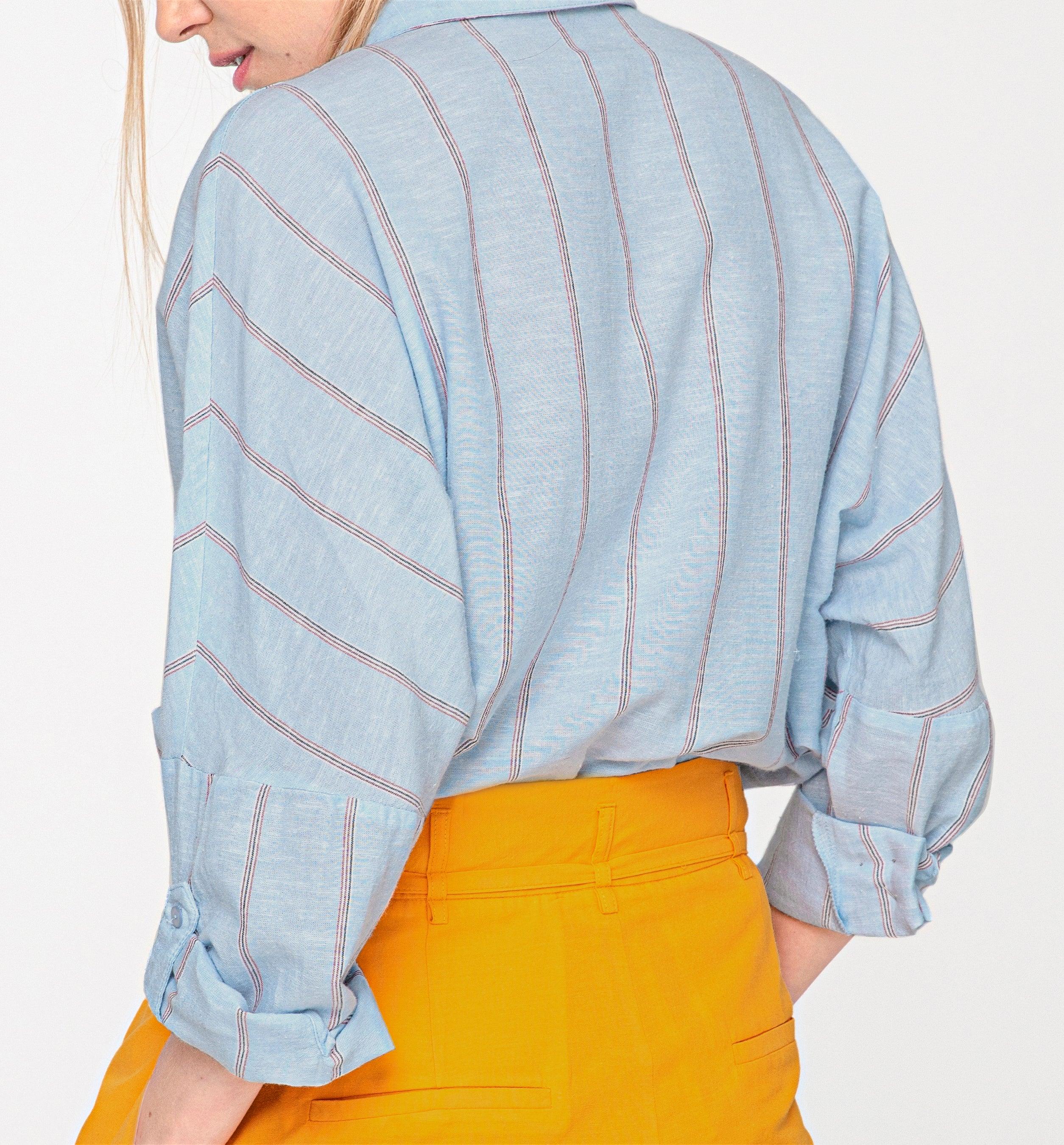 Chemise oversize rayée