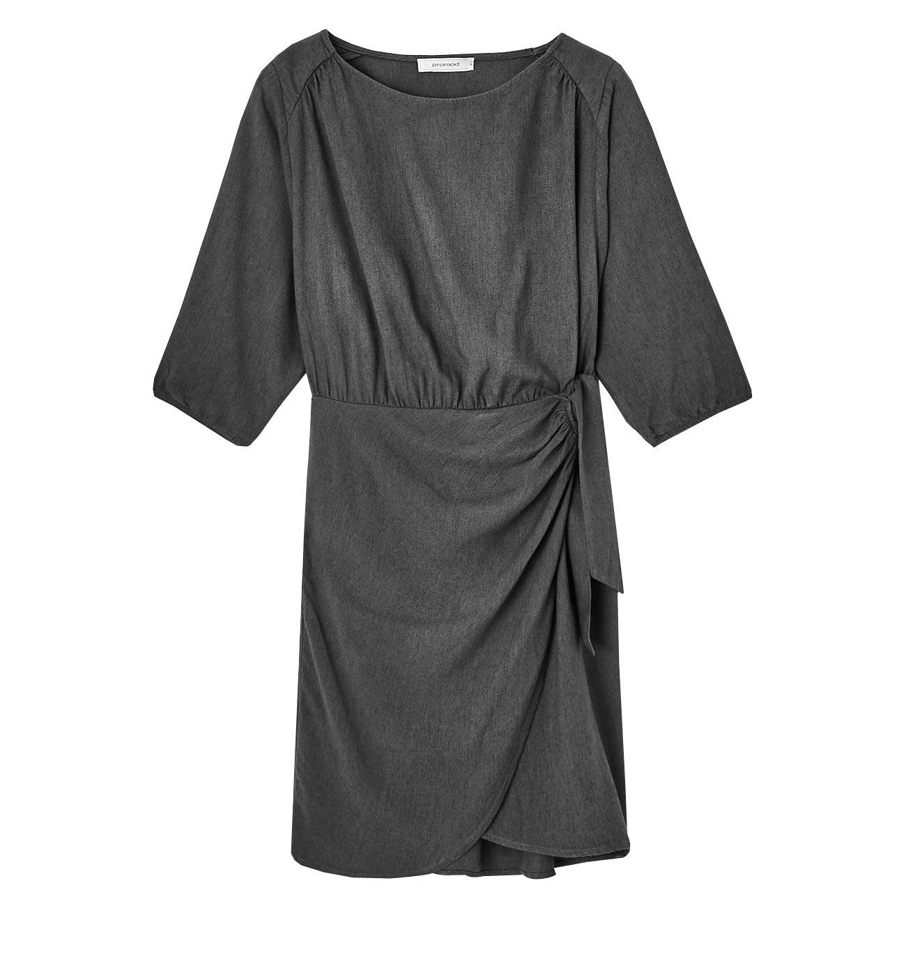 Robe courte unie Femme