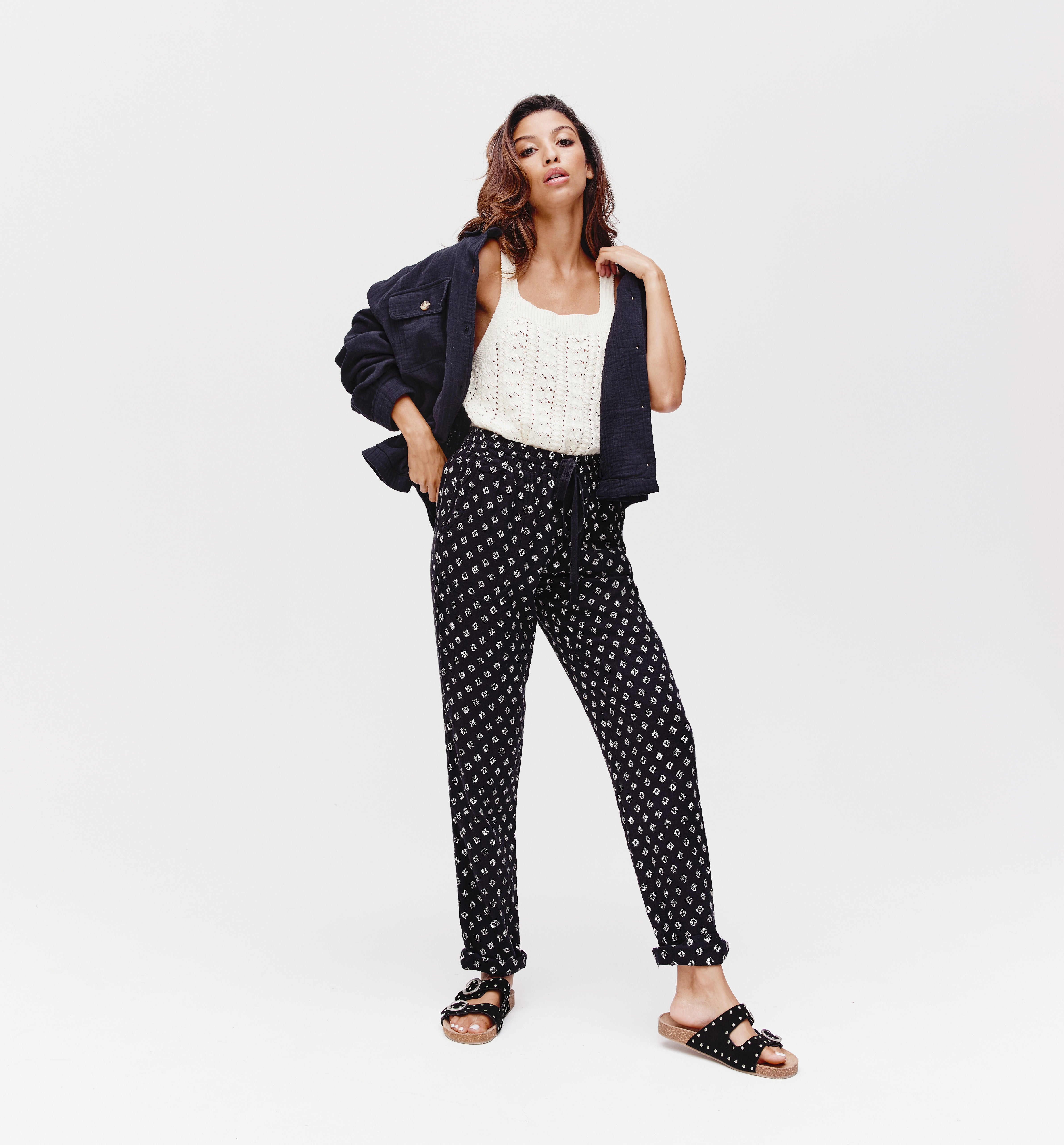 Pantalon en gaze de coton