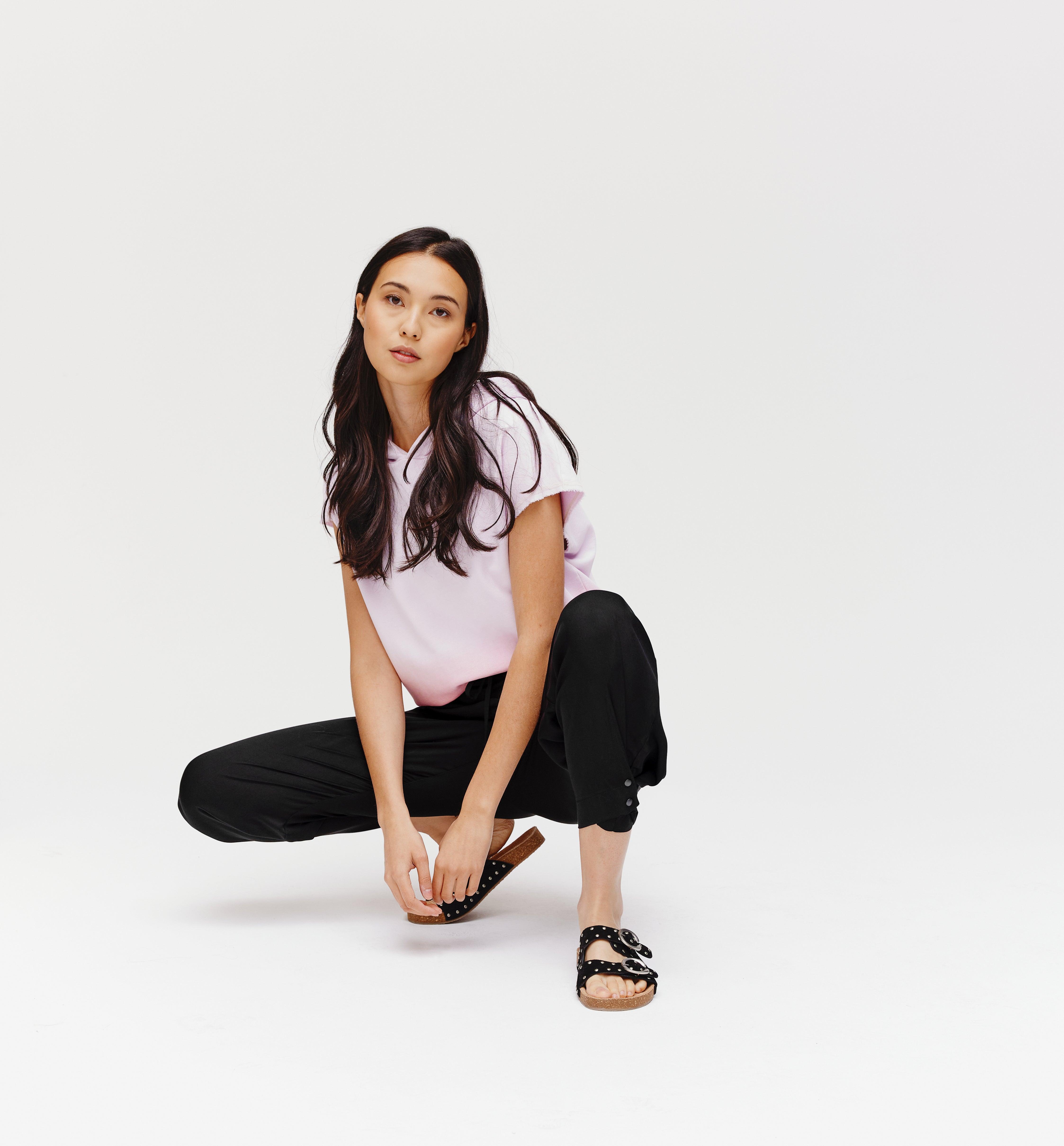 Pantalon style pyjama Femme