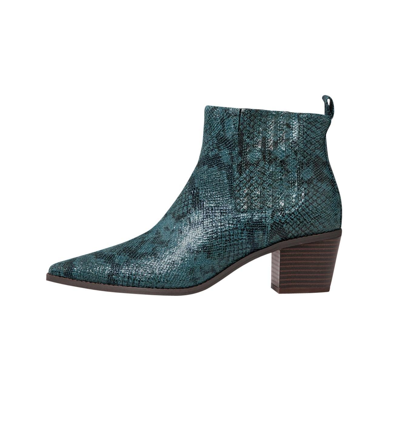 Boots effet python Femme