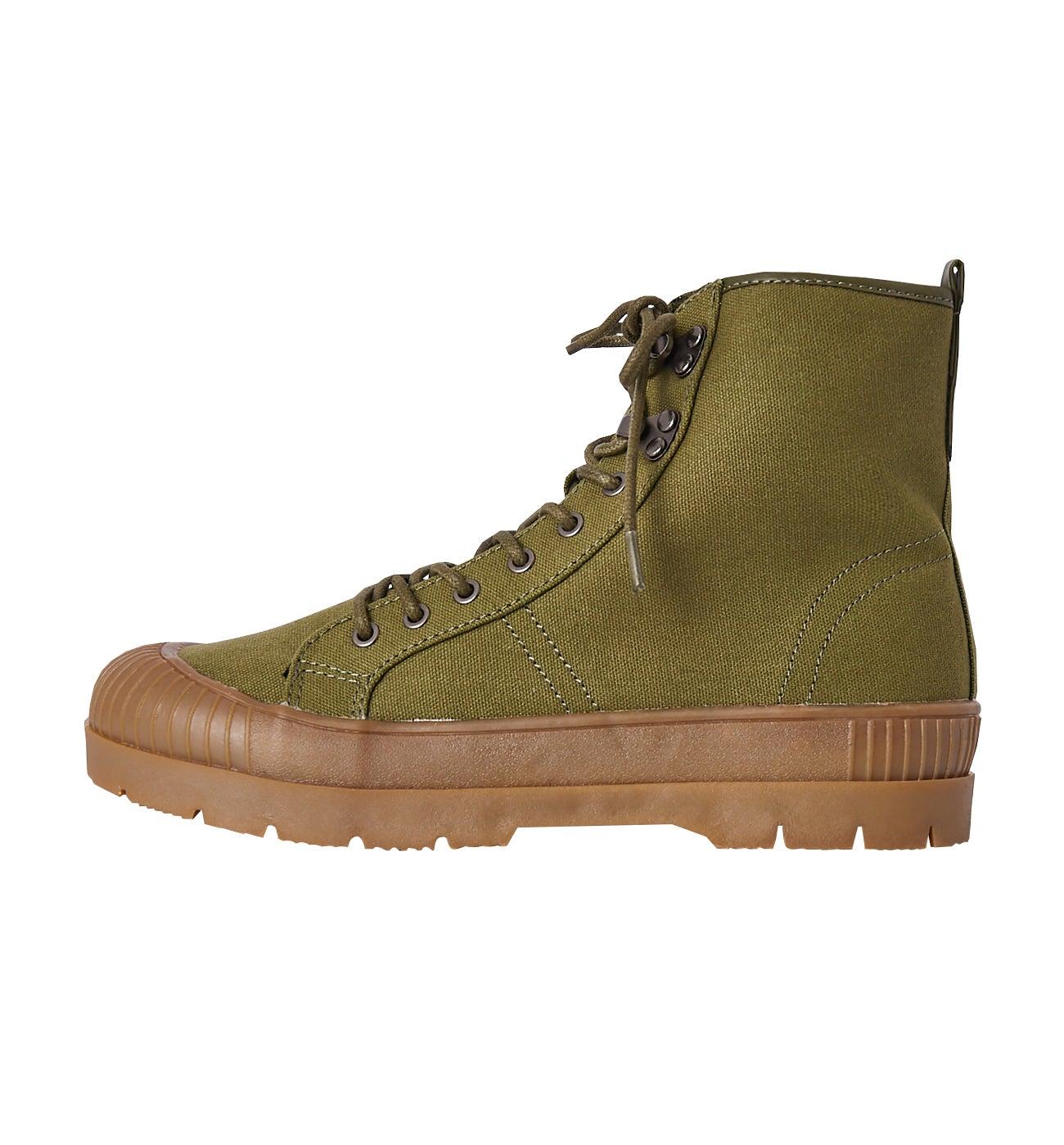 Boots montantes en toile