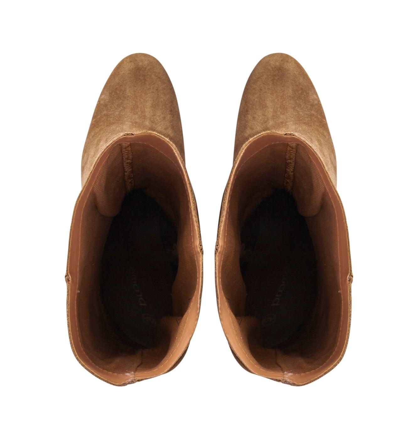 Bottes en cuir suédé Femme