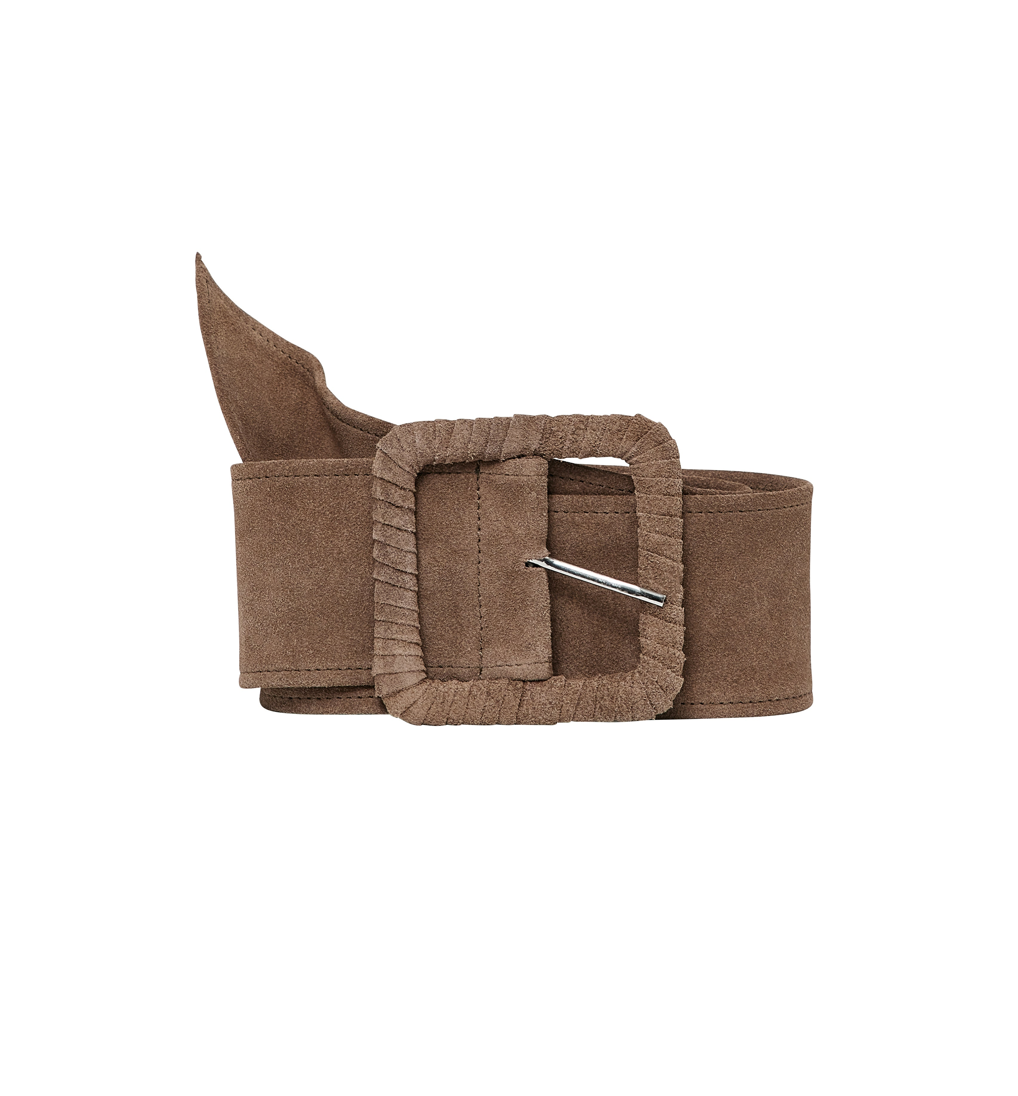 Large ceinture en cuir suédé