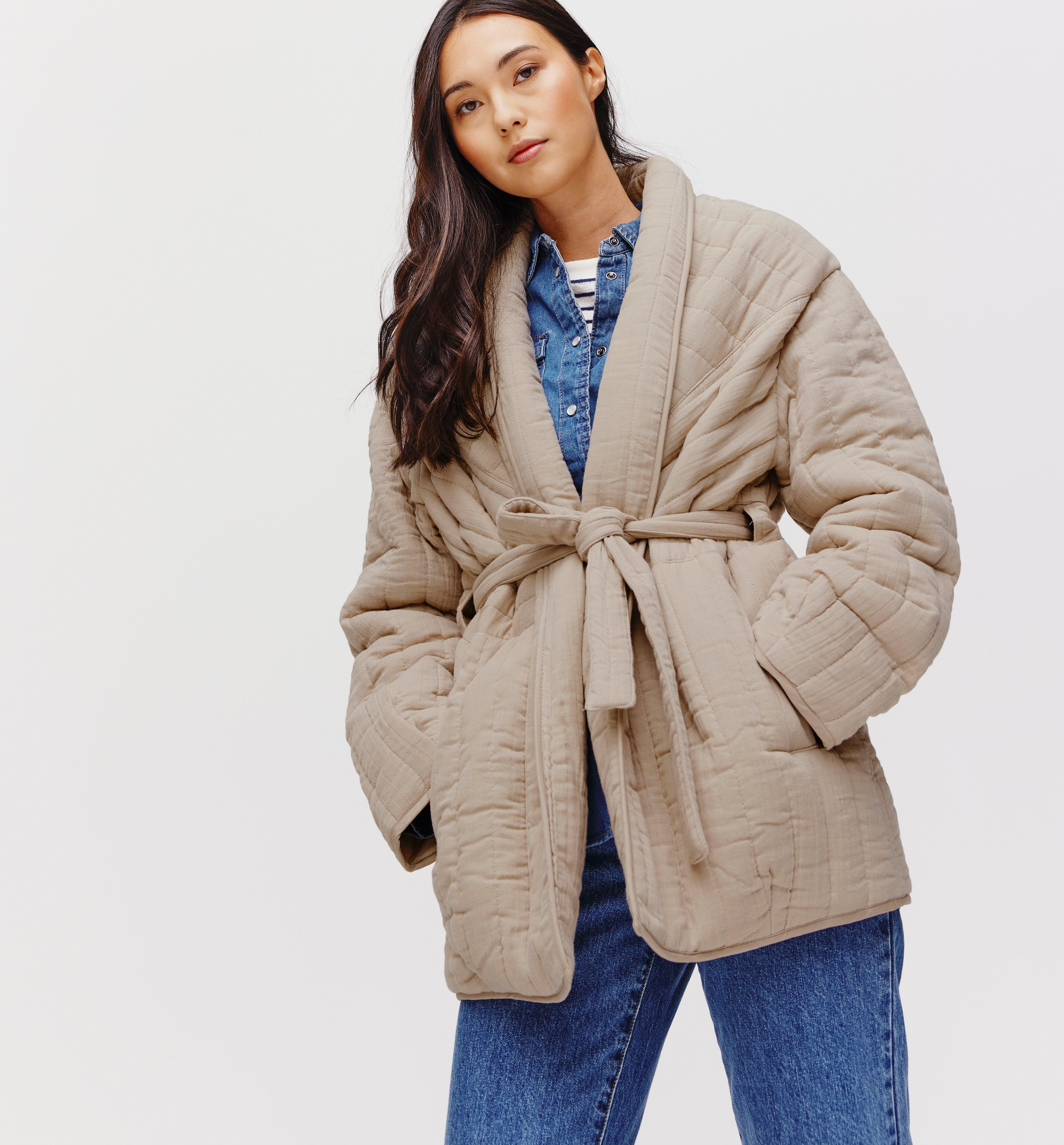 Longue veste matelassée Femme