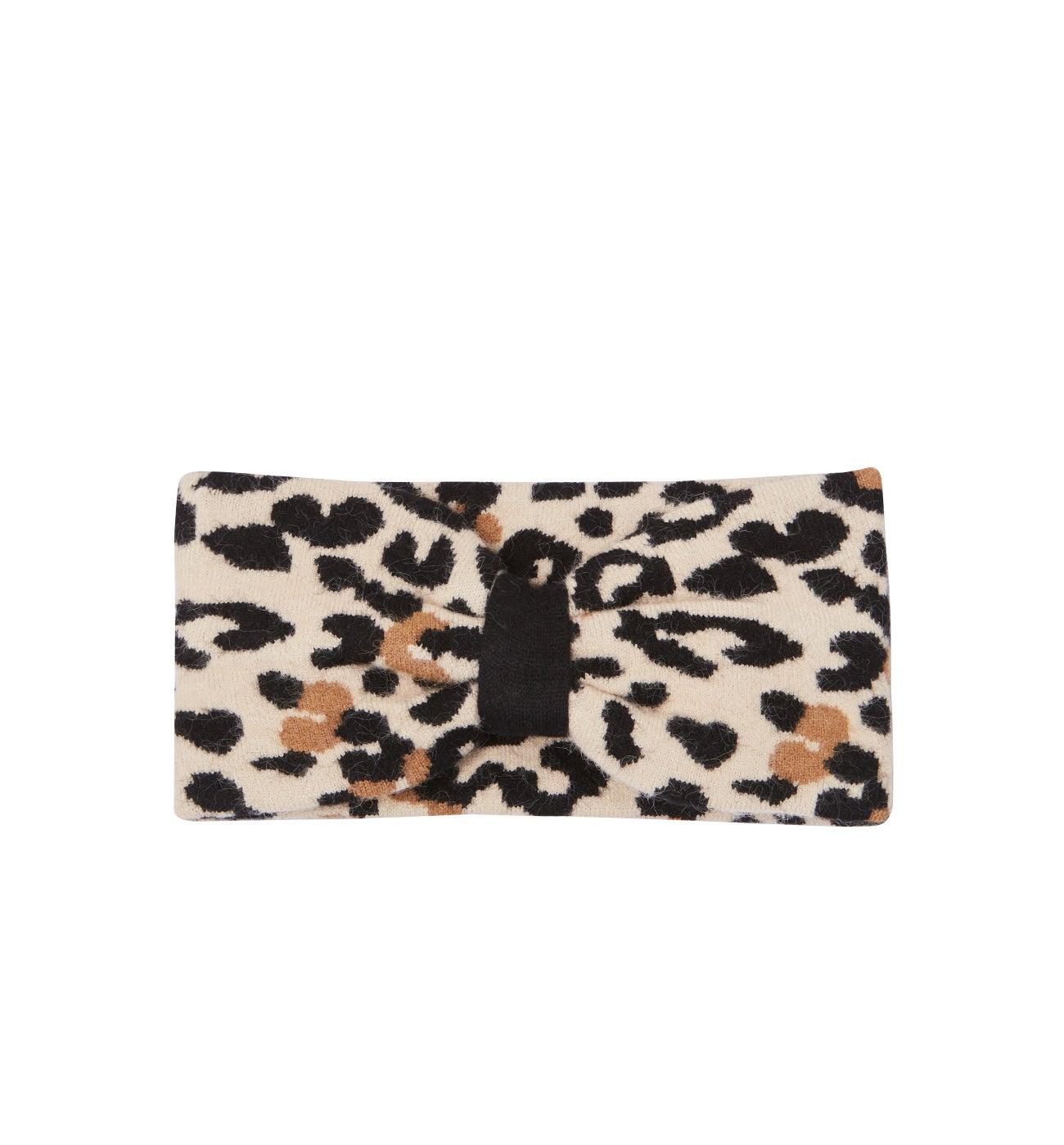 Headband motif léopard