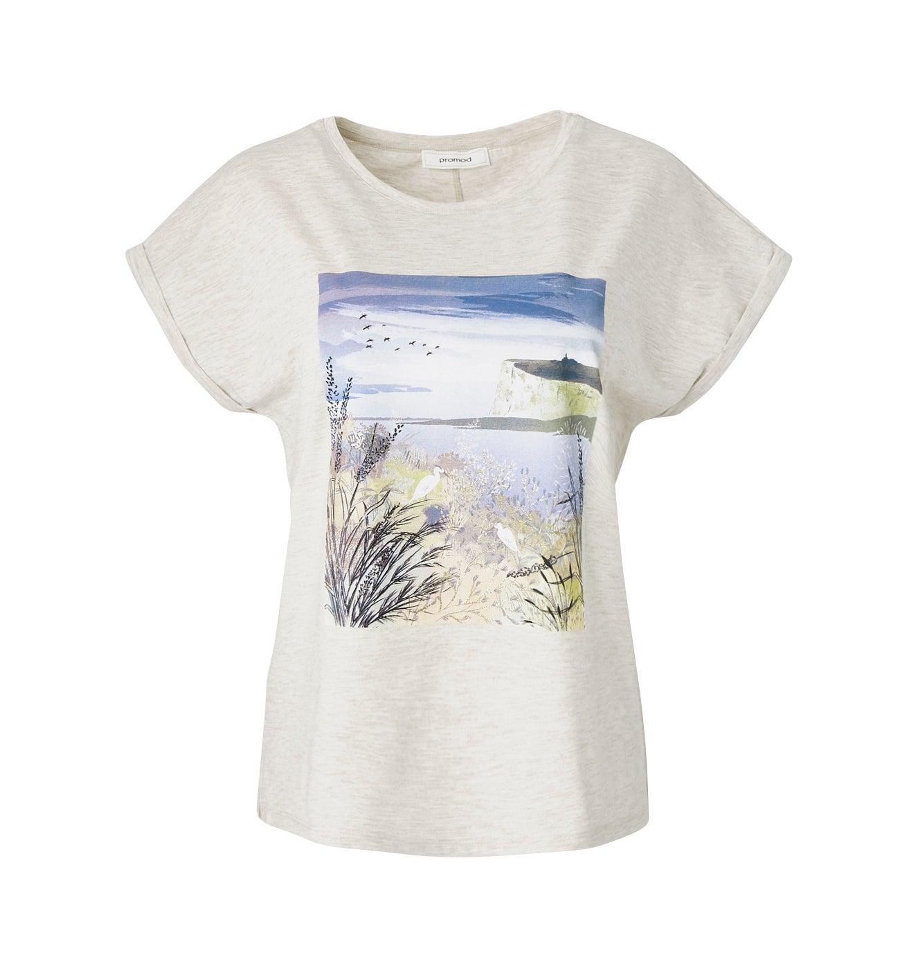 T-shirt à motif placé DIMB