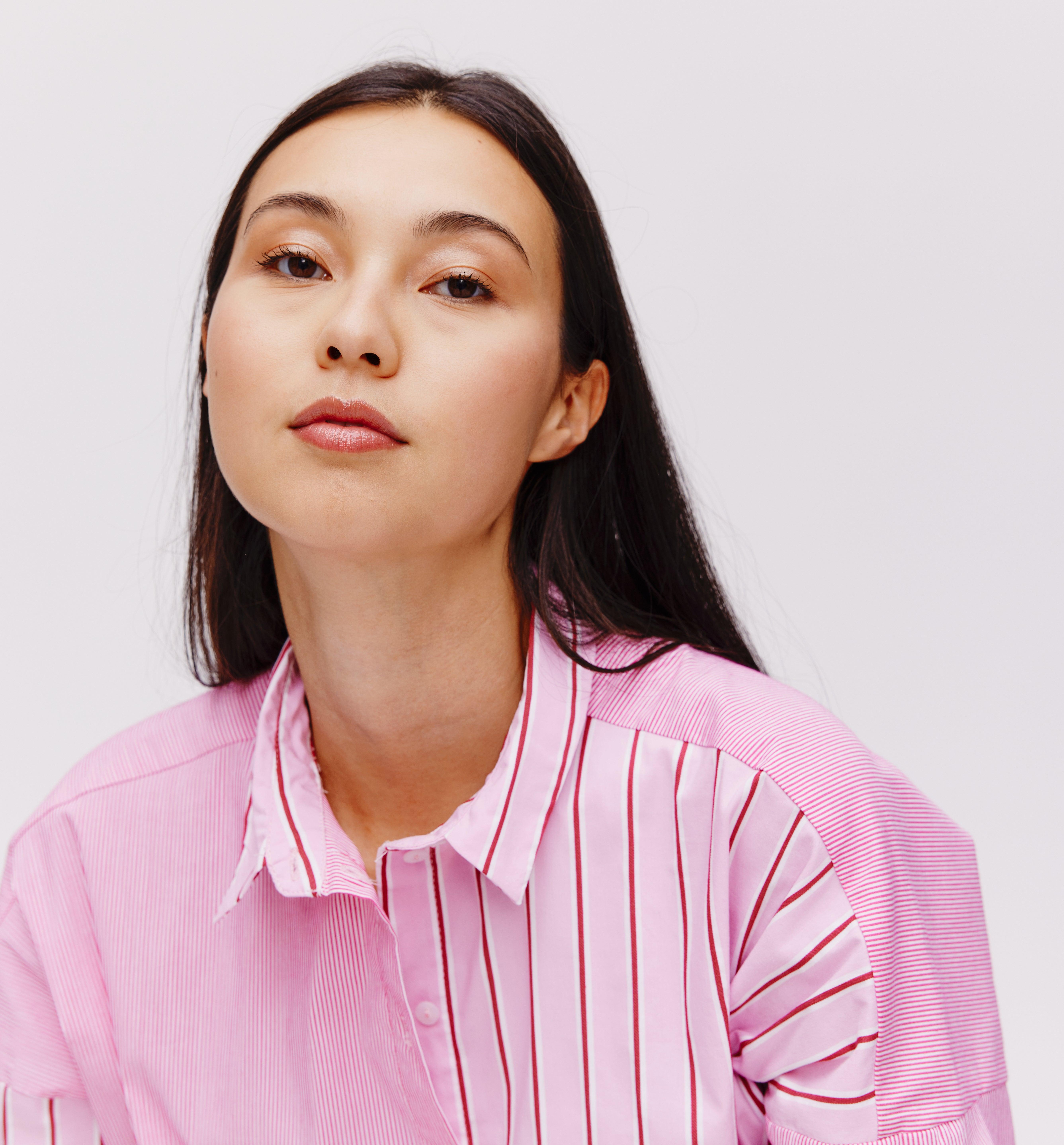 Chemise longue imprimée femme