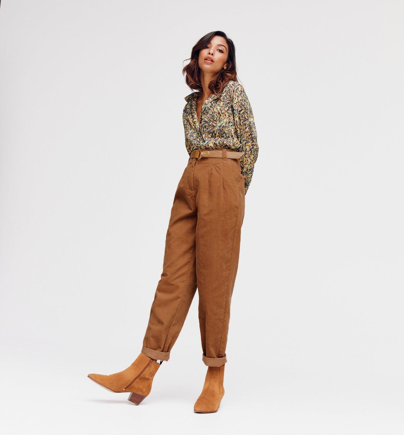 Pantalon en velours Femme