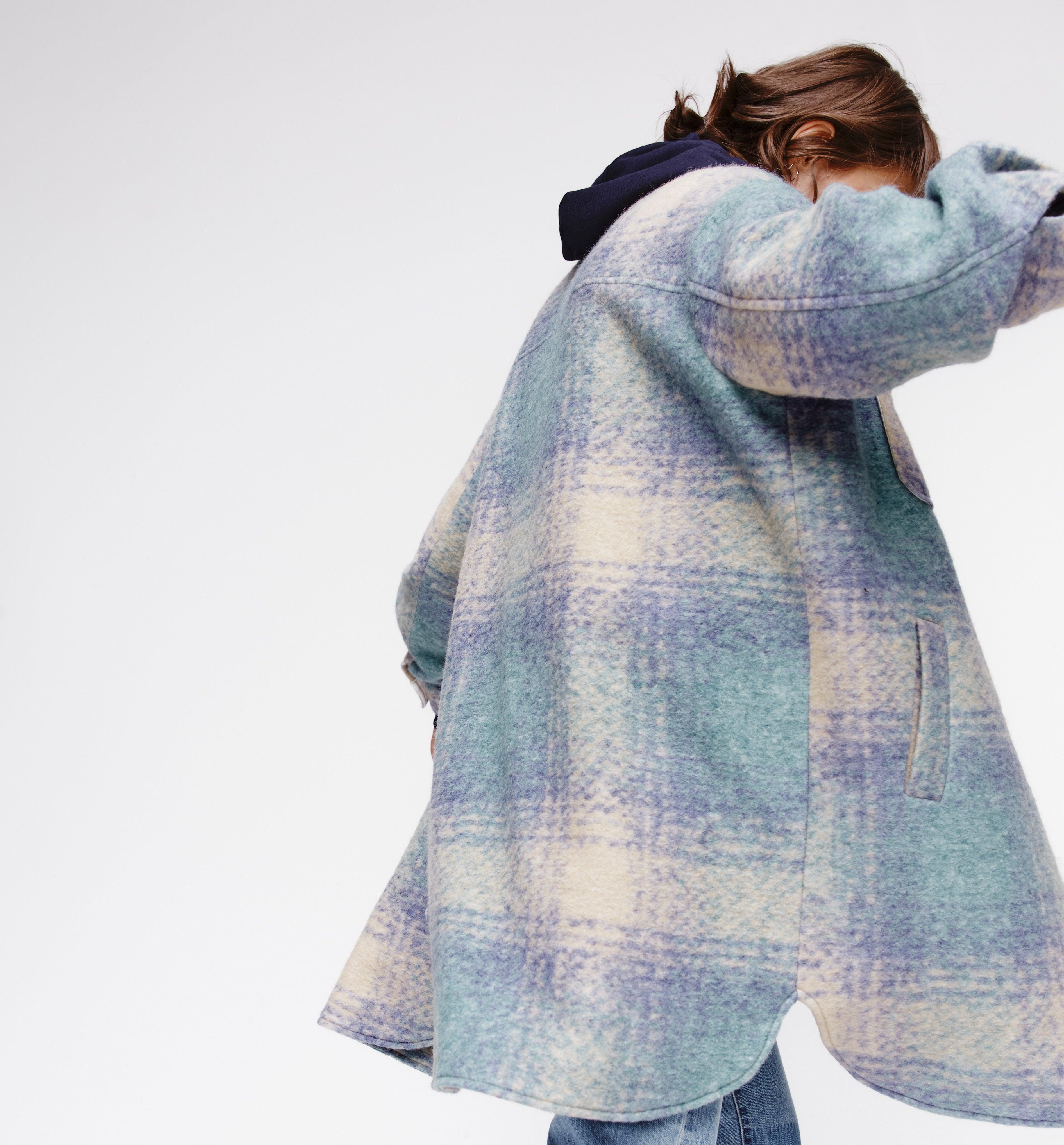 Manteau surchemise en laine