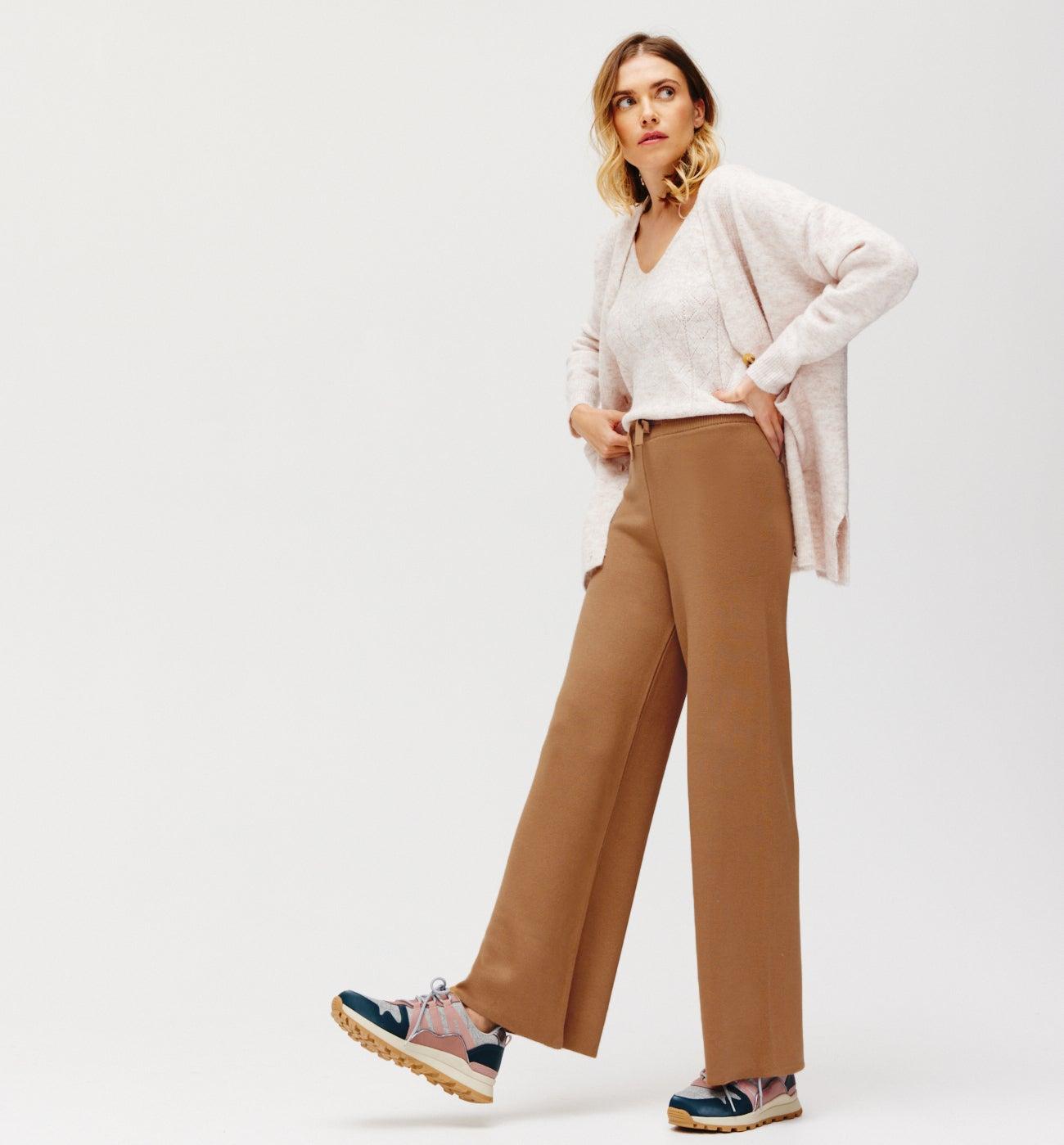 Pantalon en tricot Femme