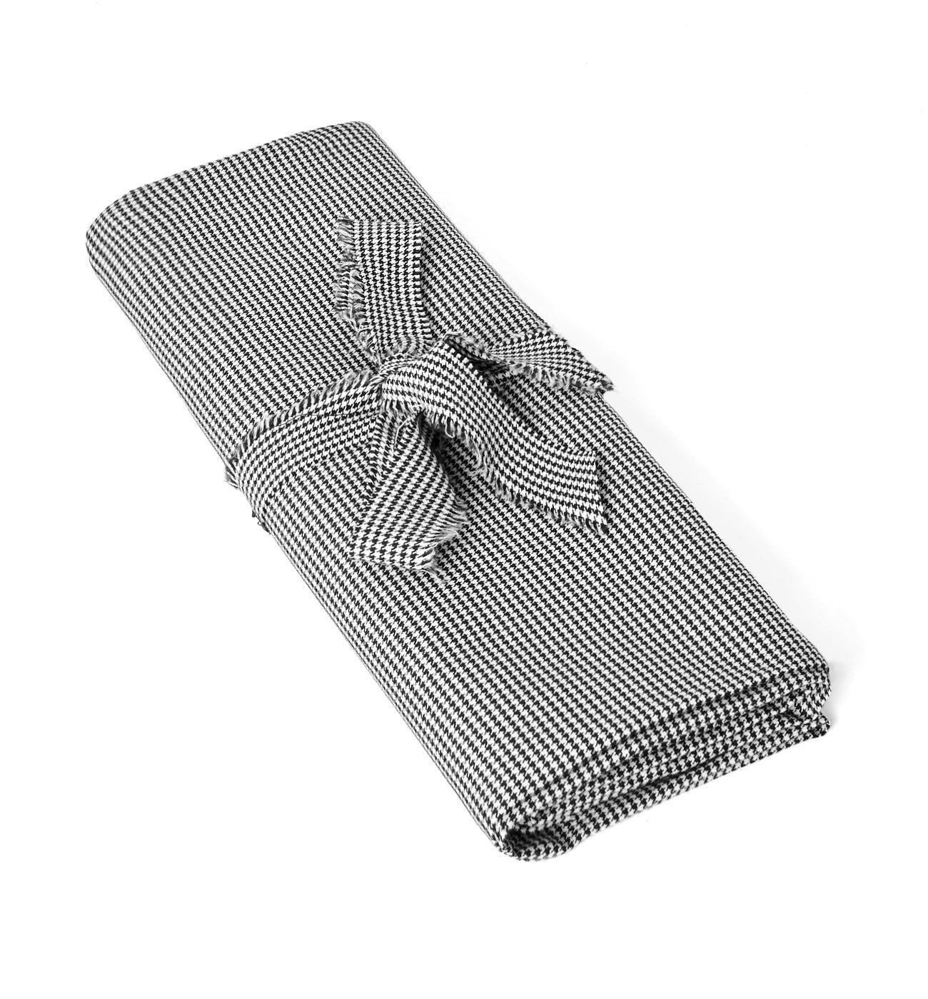 Coupon de tissu twill carreaux