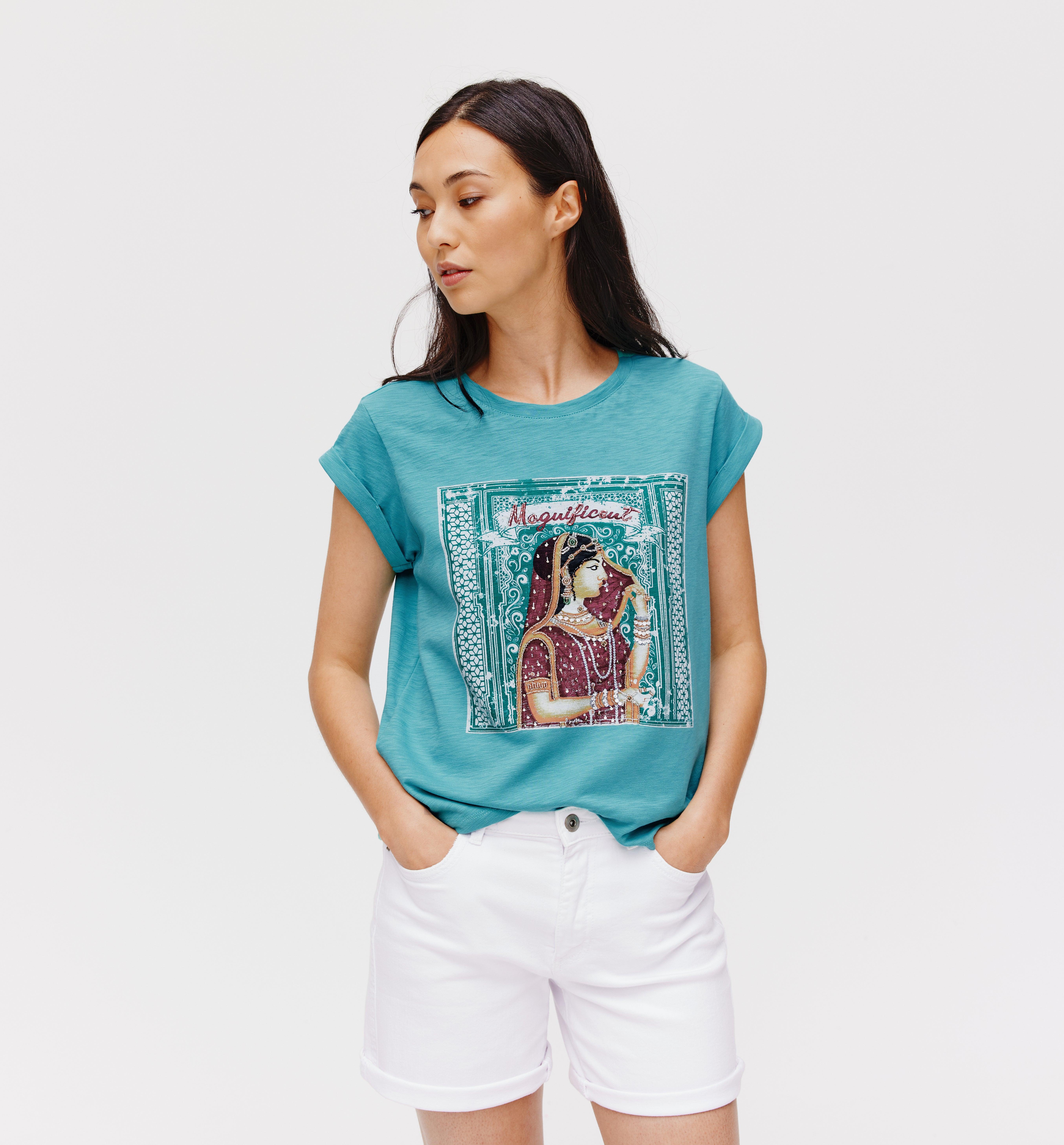 T-shirt perlé en Inde Femme