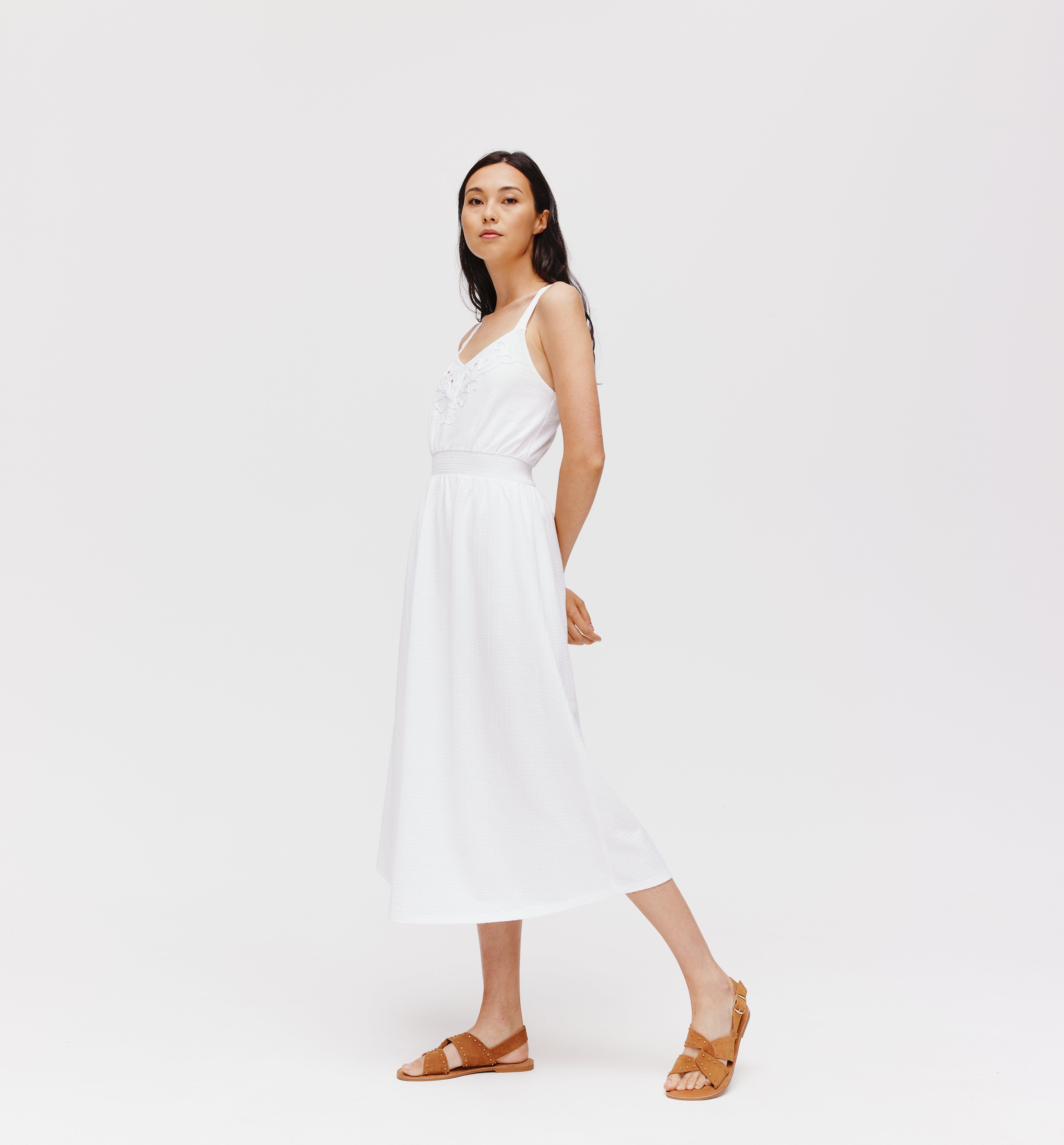 Robe longue à bretelles Femme
