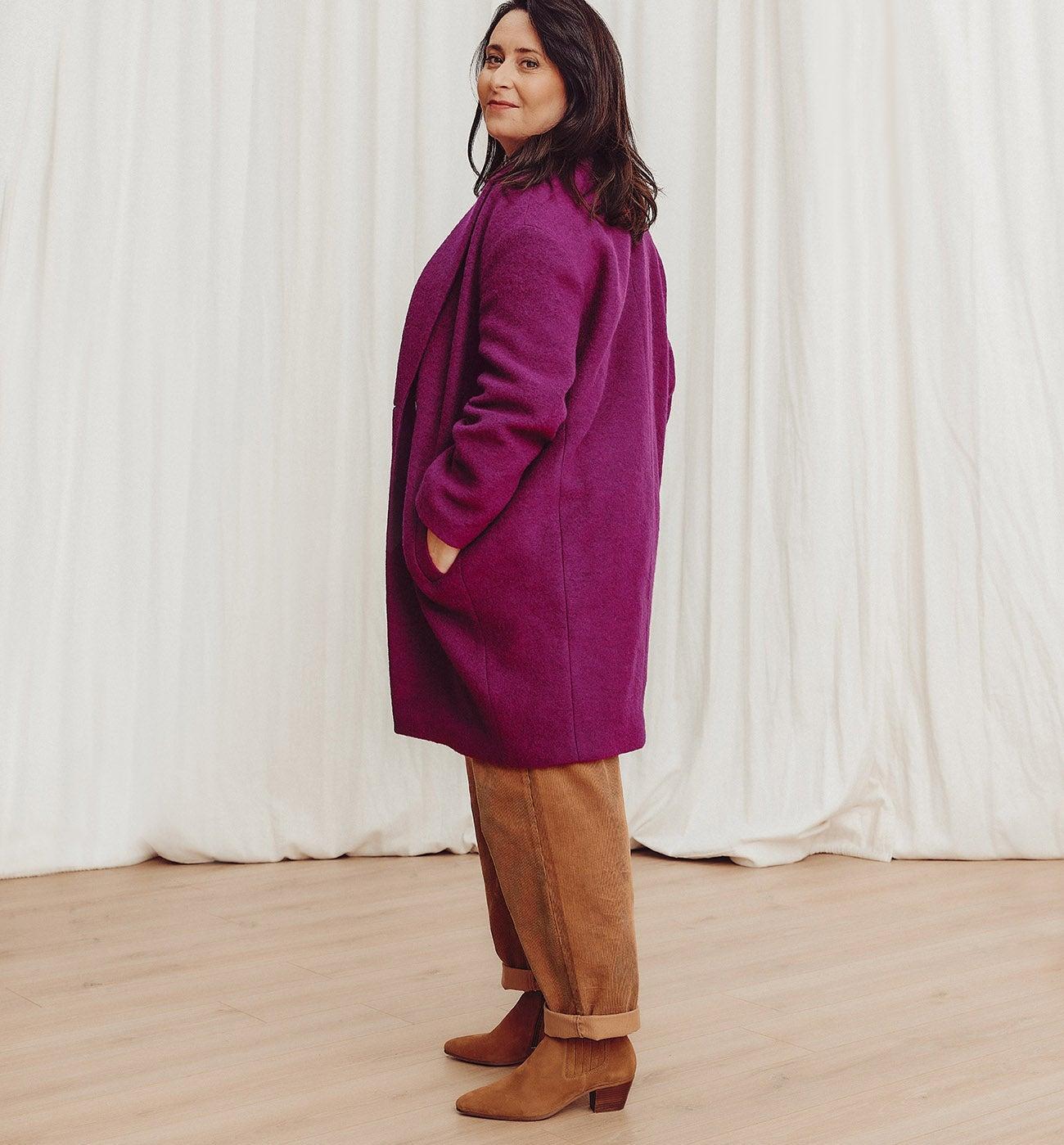 Manteau laine italienne CARMEN