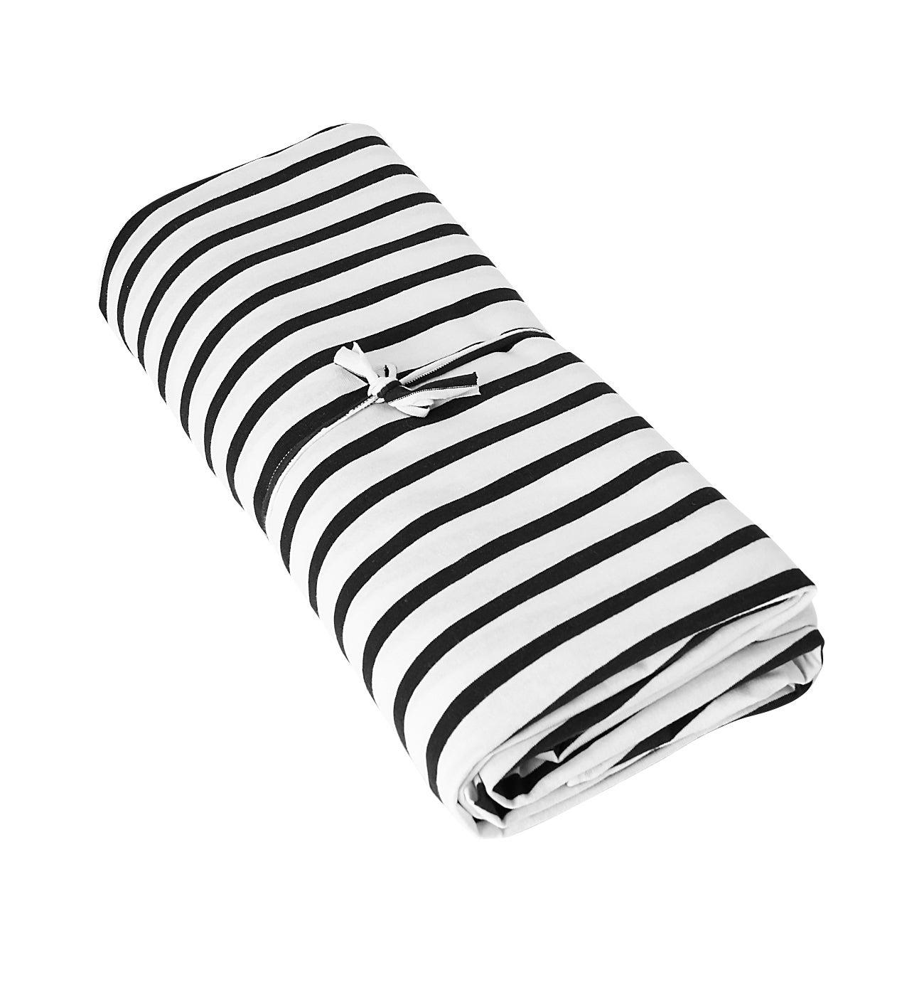 Coupon de tissu en coton rayé