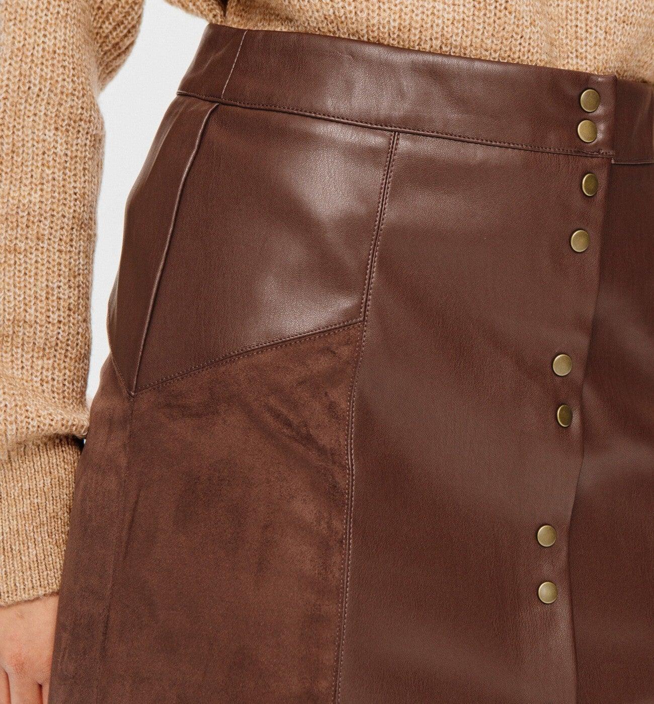 Mini jupe effet cuir