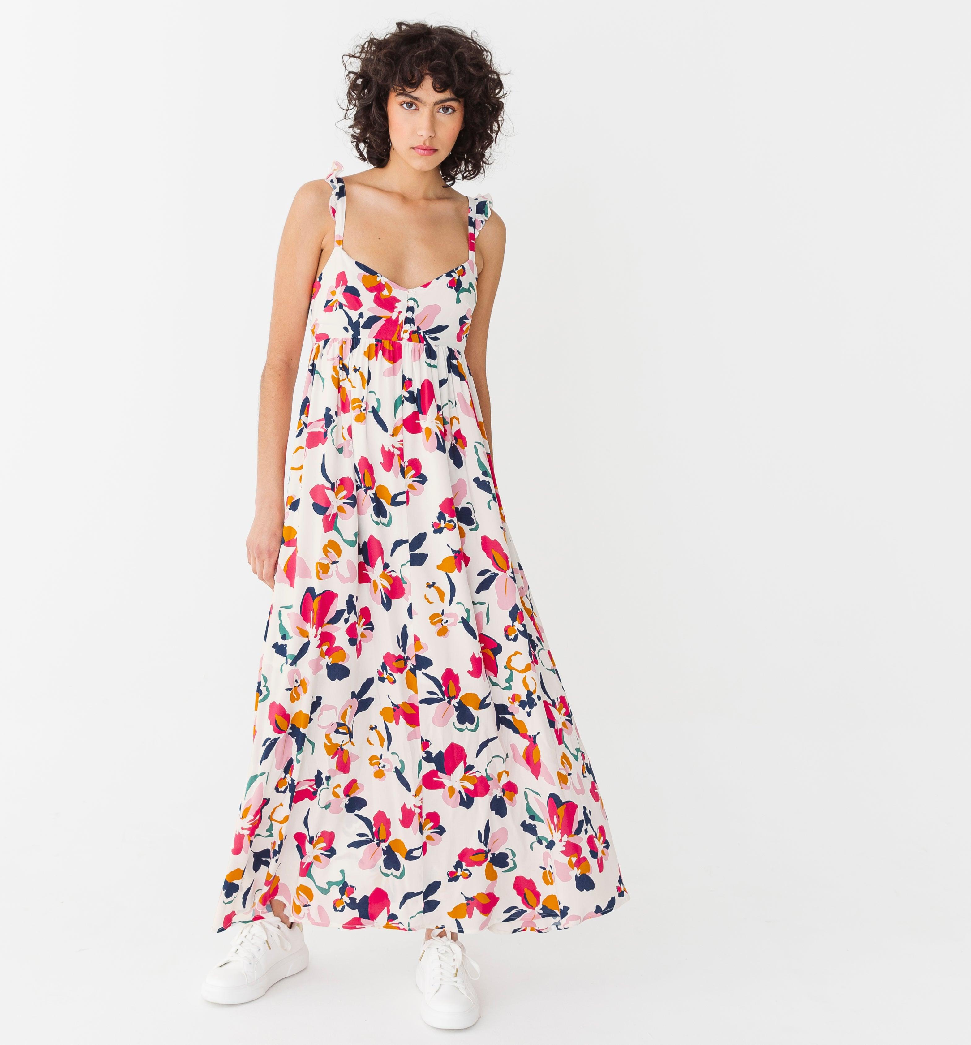 Longue robe imprimé Femme