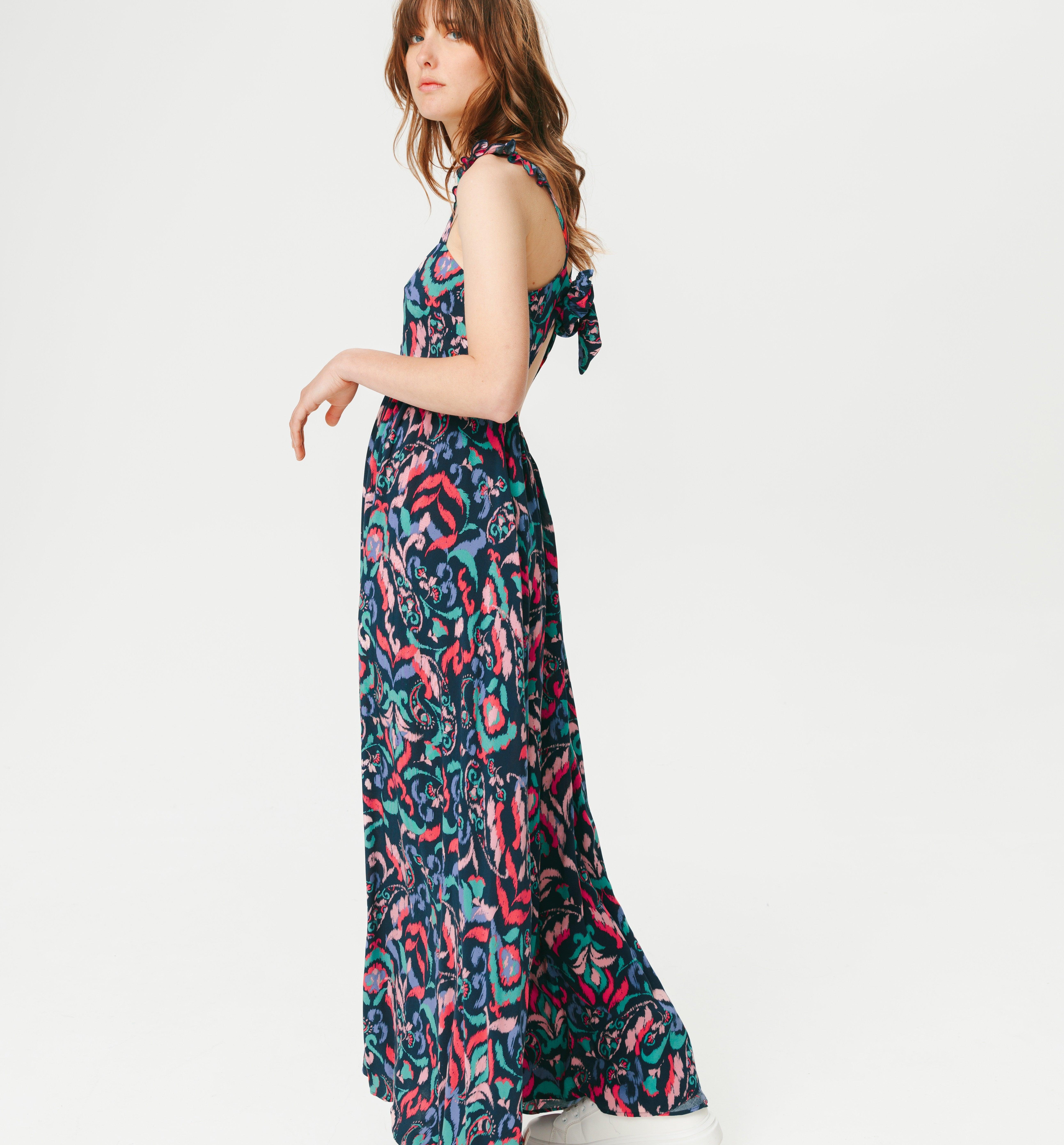 Longue robe imprimée Femme