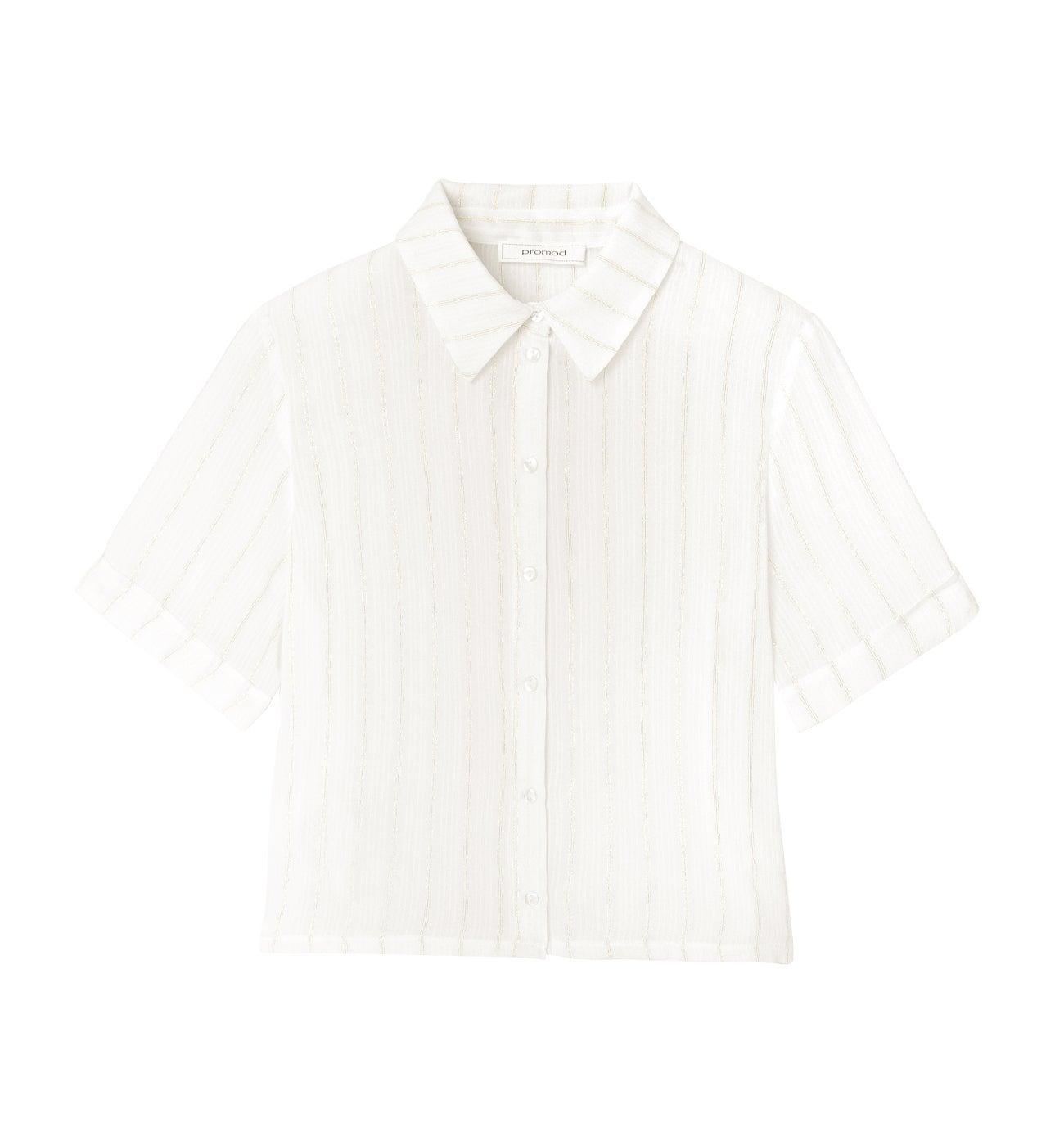 Chemise rayée irisée Femme