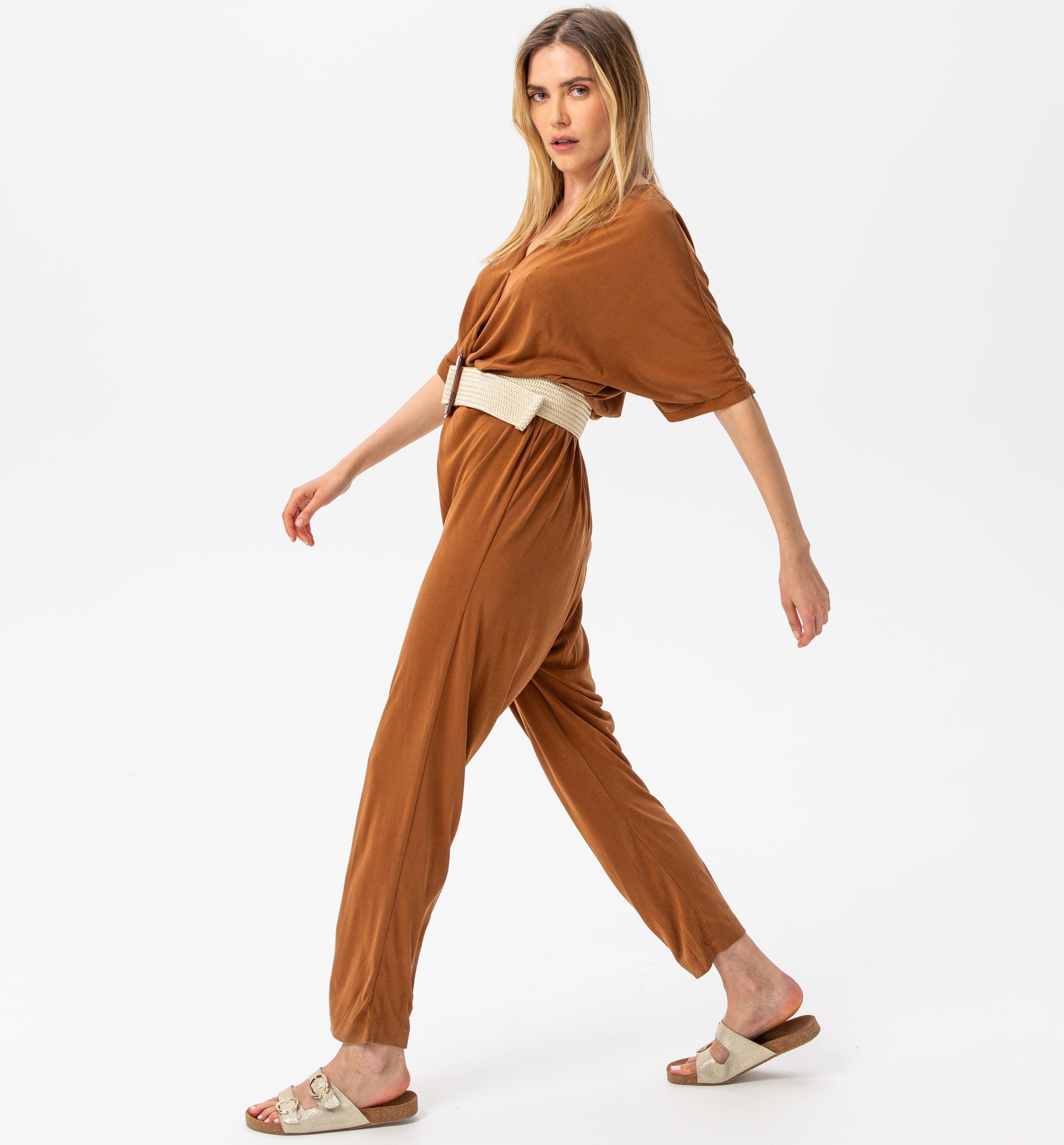 Combinaison-pantalon unie